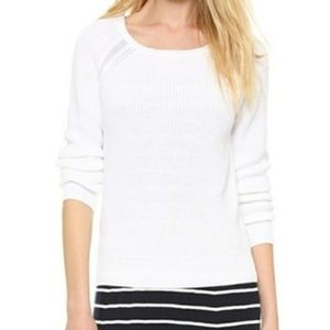 Vince White Raglan Sweater Knit Summer Sweater